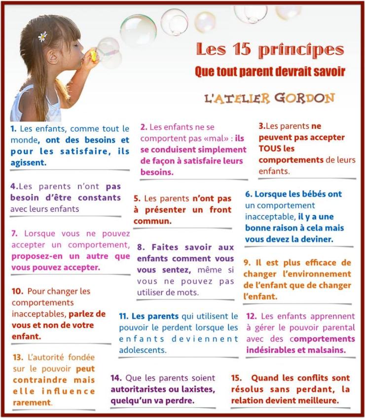 Les 15 principes que tout parents devrait savoir