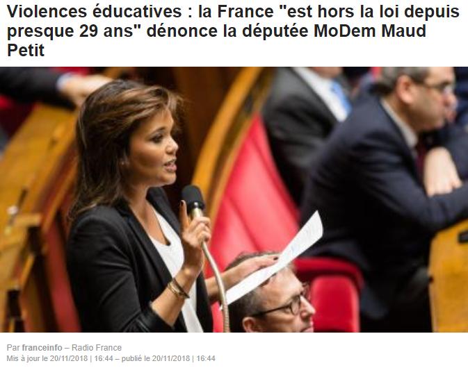 La France ''est hors la loi depuis presque 29 ans'' - dénonce la députée MoDem Maud Petit